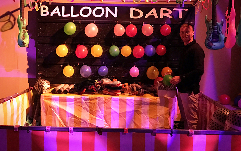 Balloon Darts with Carnival Booth