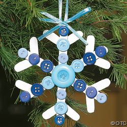 Make Your Own Wooden Snowflake Ornament (300)