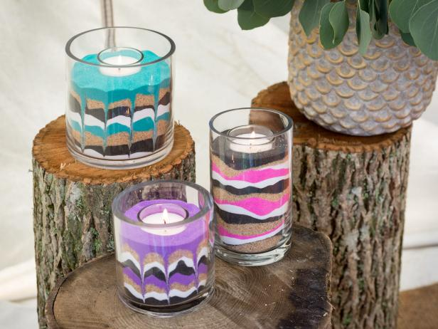 Make Your Own Sand Art Candle