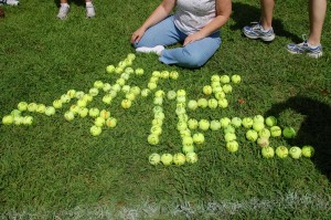 Tennis Ball Scrabble