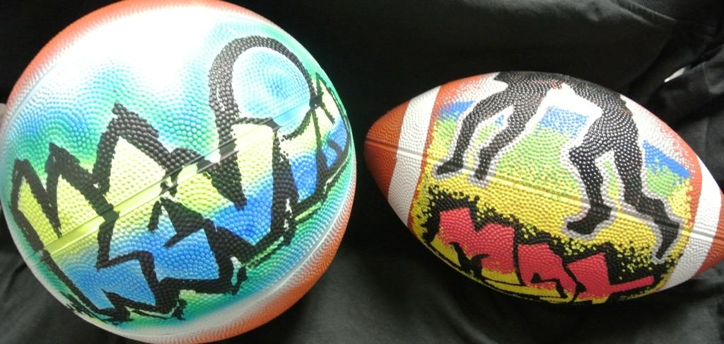 Airbrush Graffiti Sports Balls