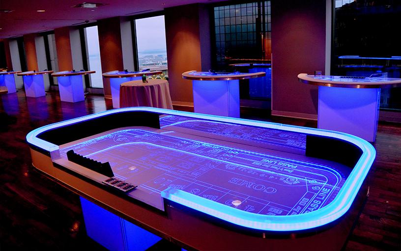 Glow Craps Table w/ 2 Dealers