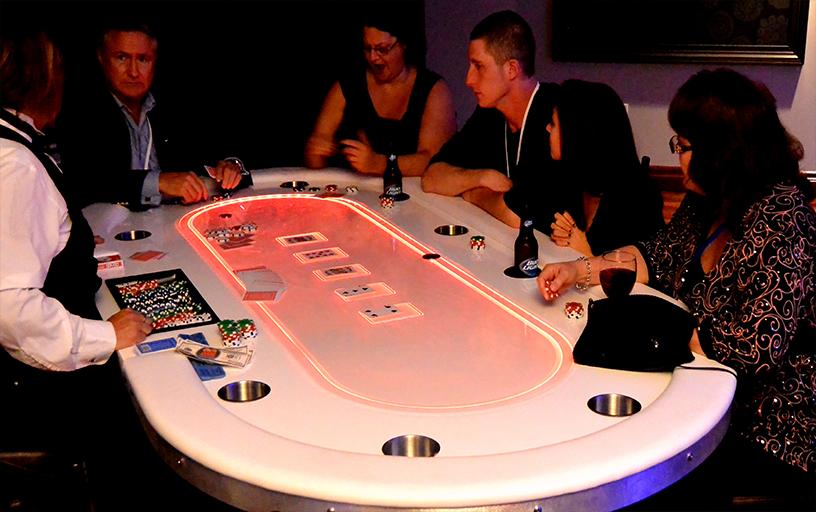 Glow Texas Hold Em w/ Dealer