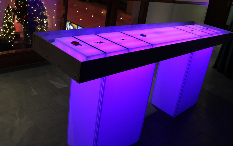 Glow Shuffleboard