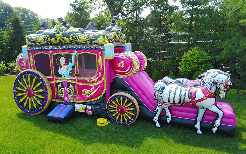 Princess Carriage Combo Bounce House