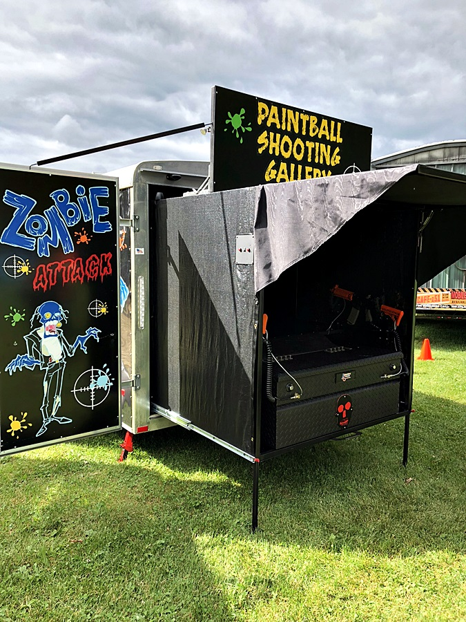 Mobile Zombie Paintball Range