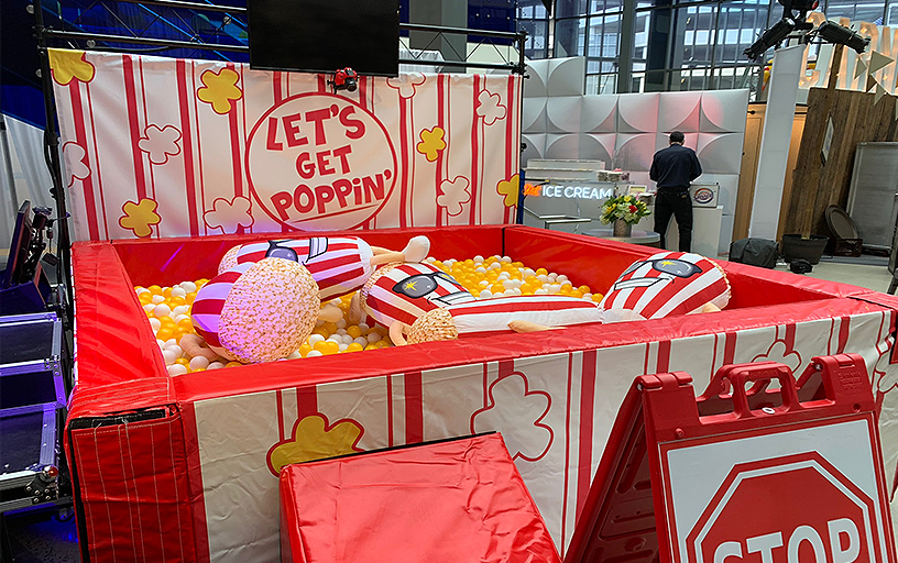 Ball Pit Photo Booth - Popcorn