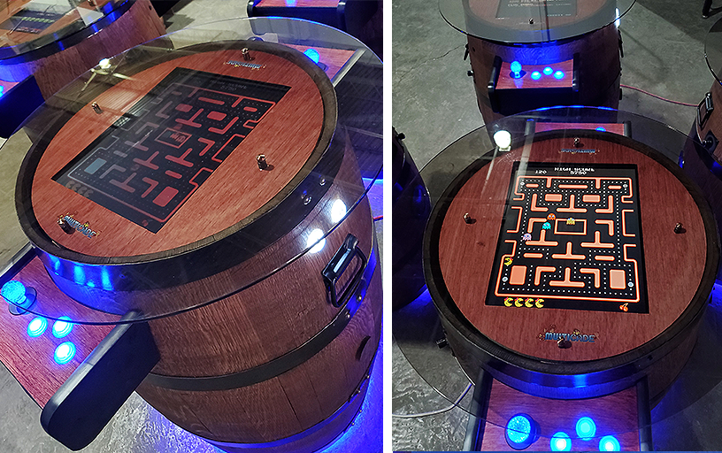 Wine Barrel Arcade Game /Pair