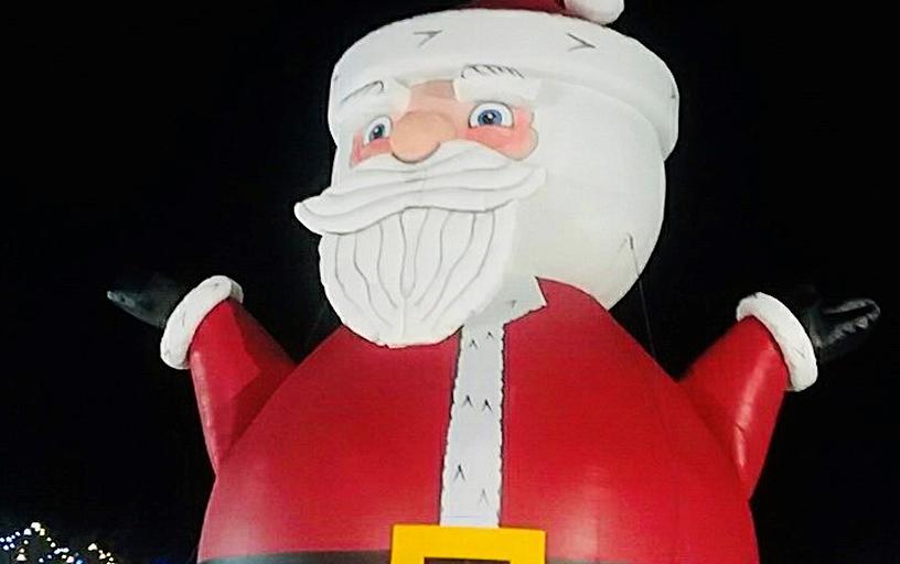 World's Largest Santa Bounce