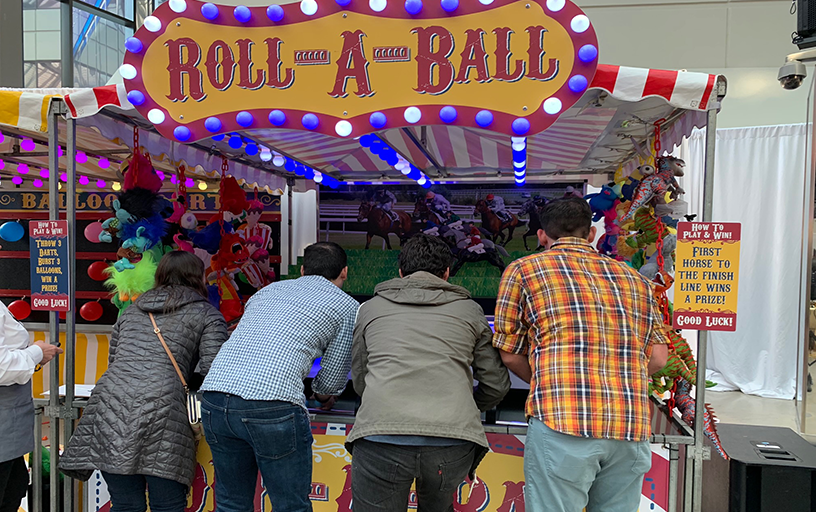 Deluxe Roll-a-Ball Horse Racer Carnival Booth