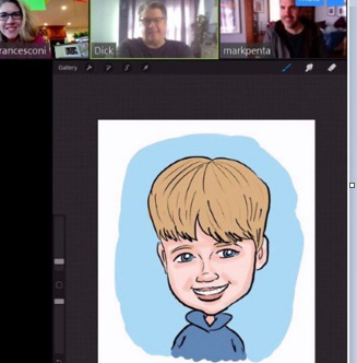 Virtual Digital Caricatures - Per Hour (2 Hr Min)